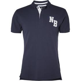 North Bend Aton Piqué SS Polo Shirt Men peacoat blue